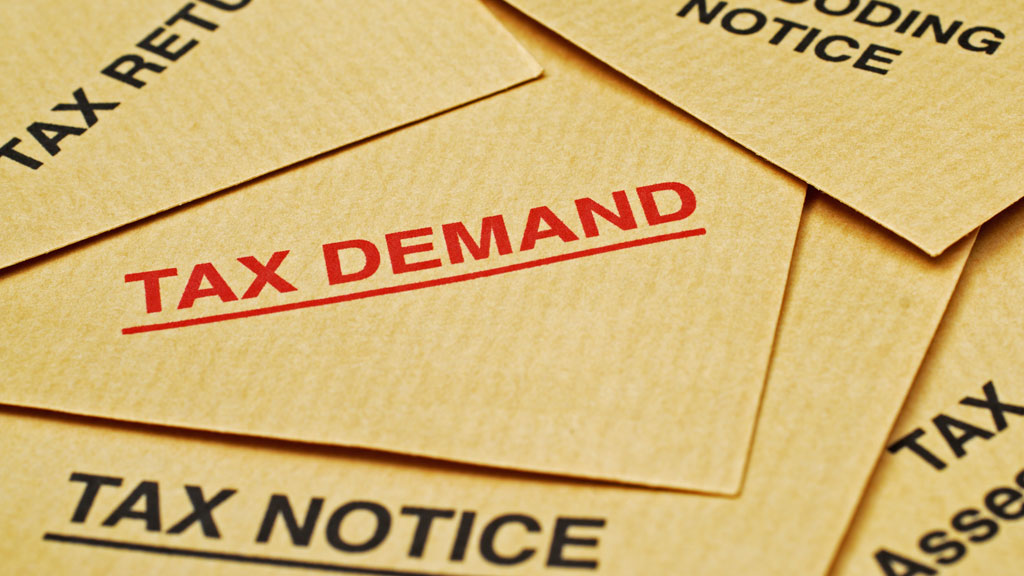 image of tax demand